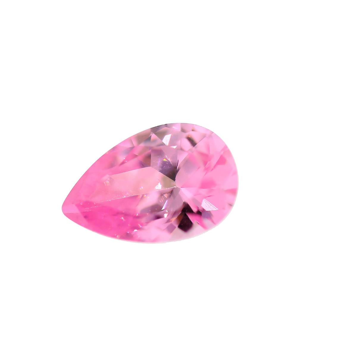 Cubic Zirconia Pink 9x6mm Pear