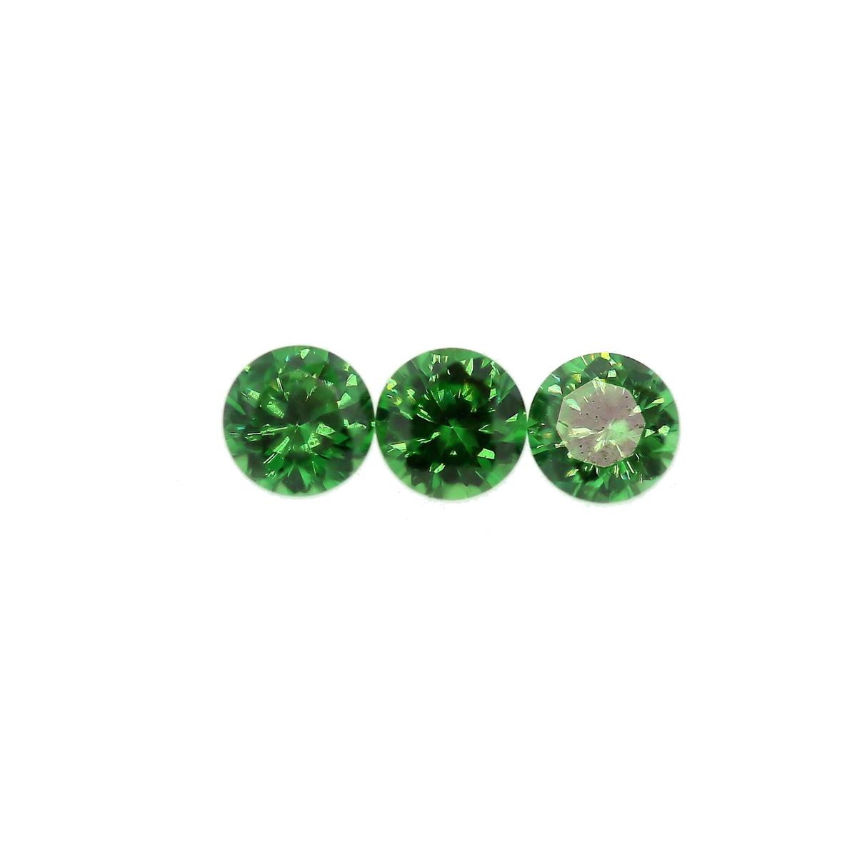 Synthetic Emerald 3.5mm Round