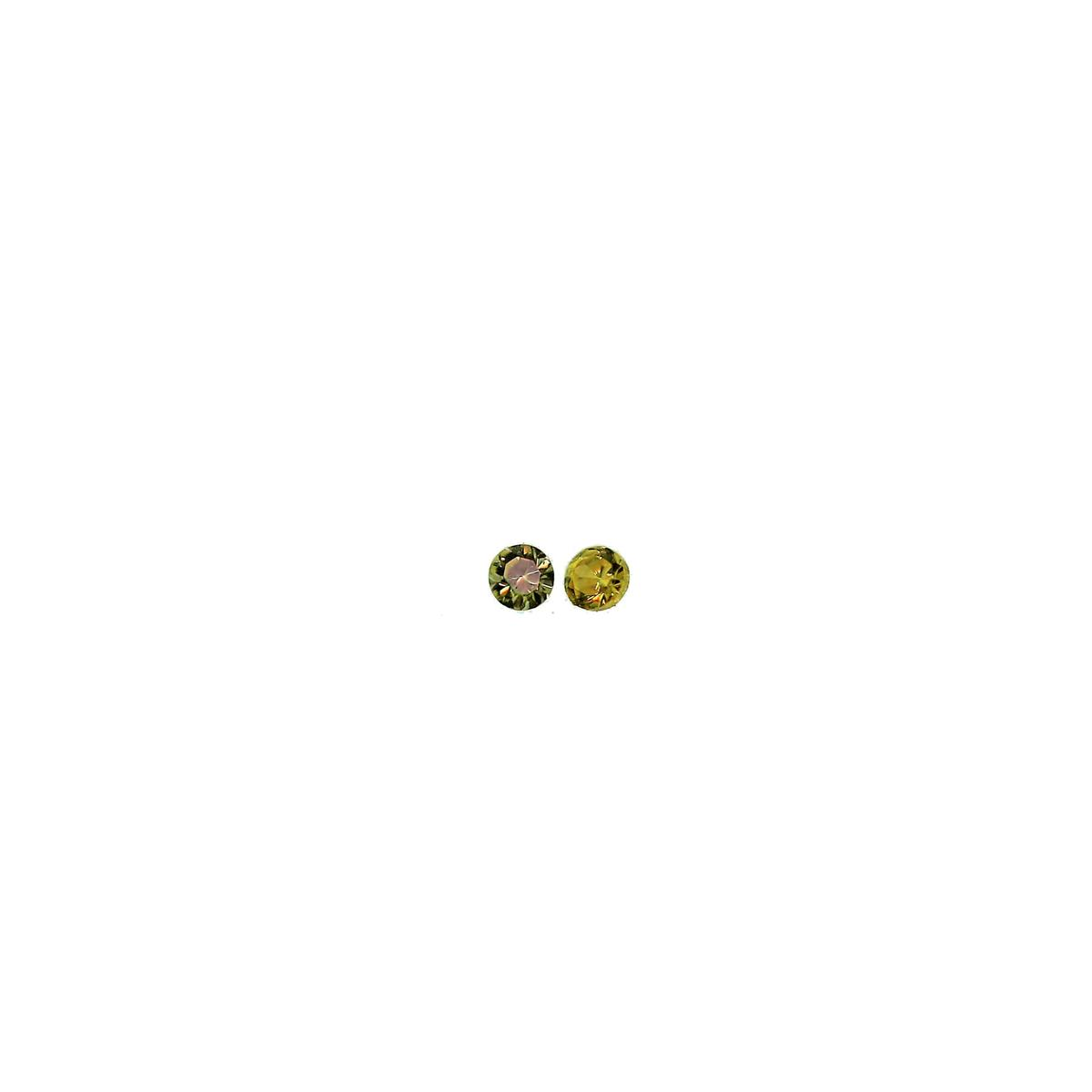 Synthetic Peridot 1mm Round