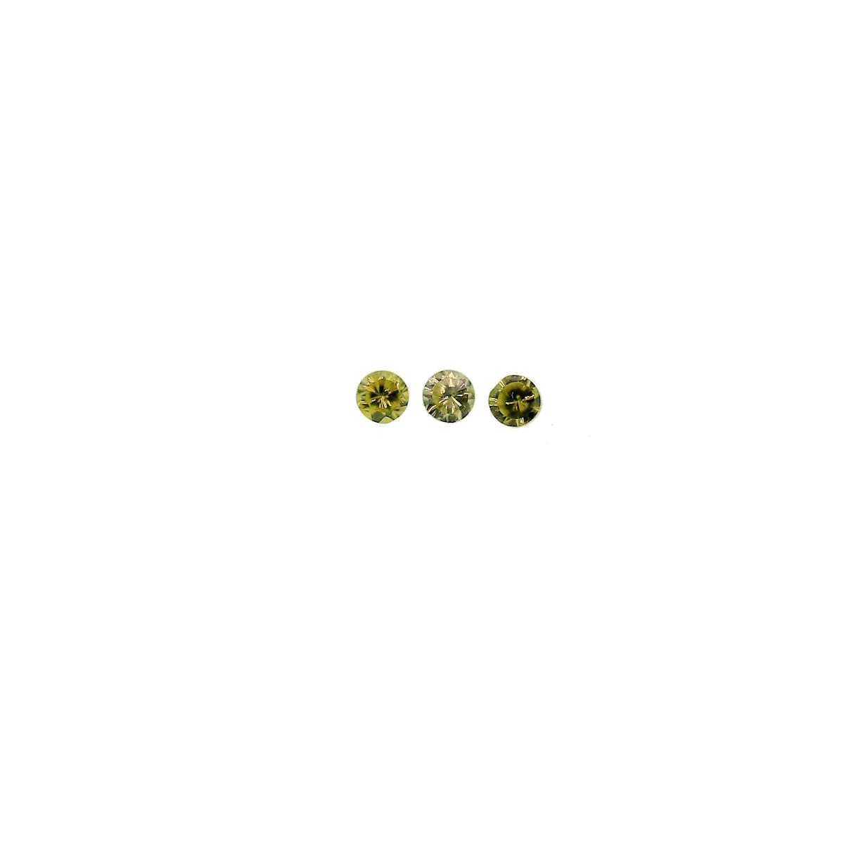 Synthetic Peridot 1.25mm Round