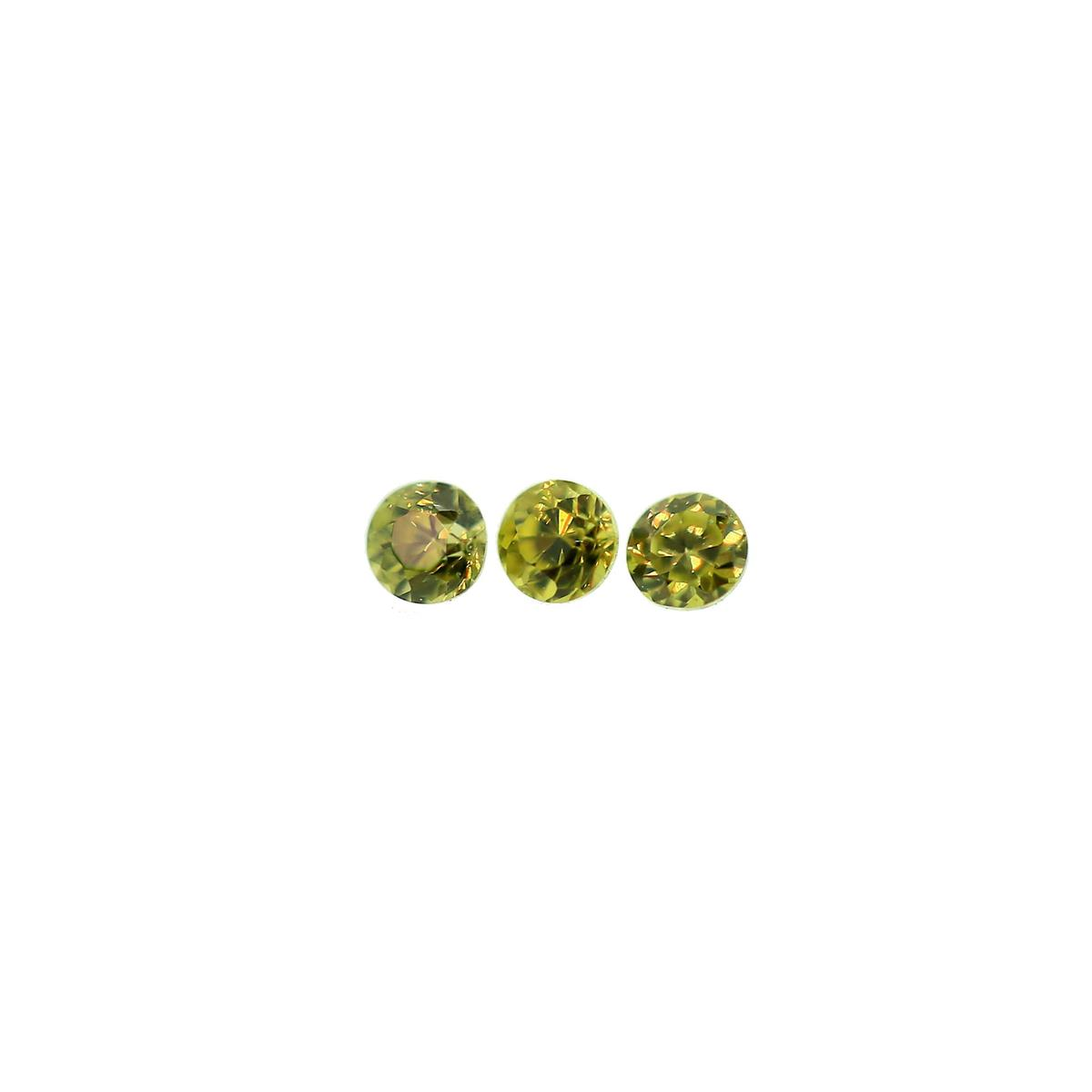 Synthetic Peridot 1.75mm Round
