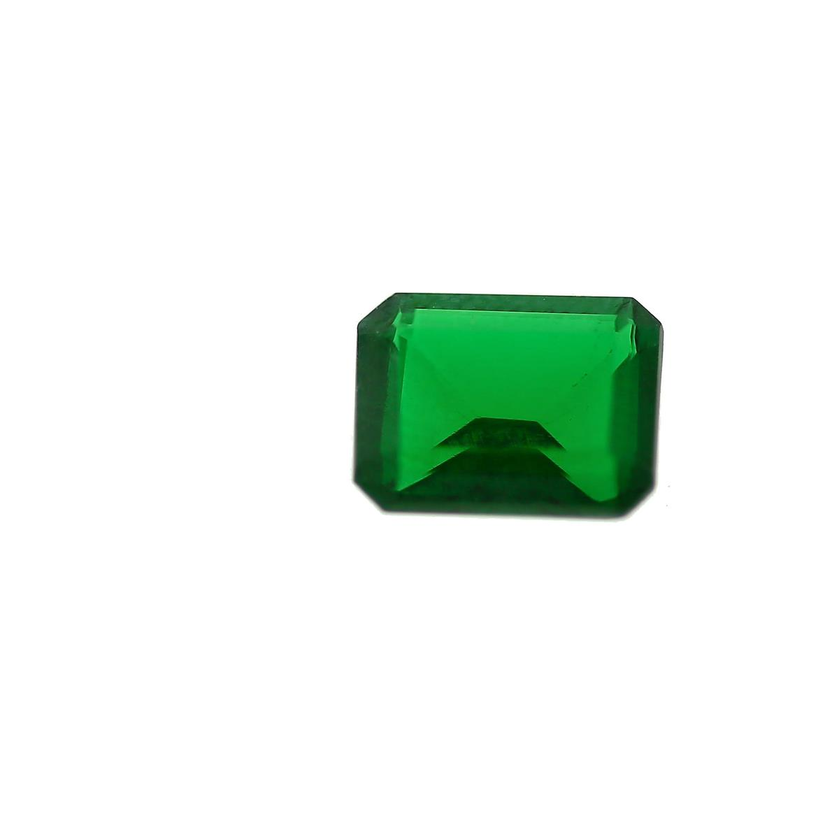 Synthetic Emerald 9x7mm