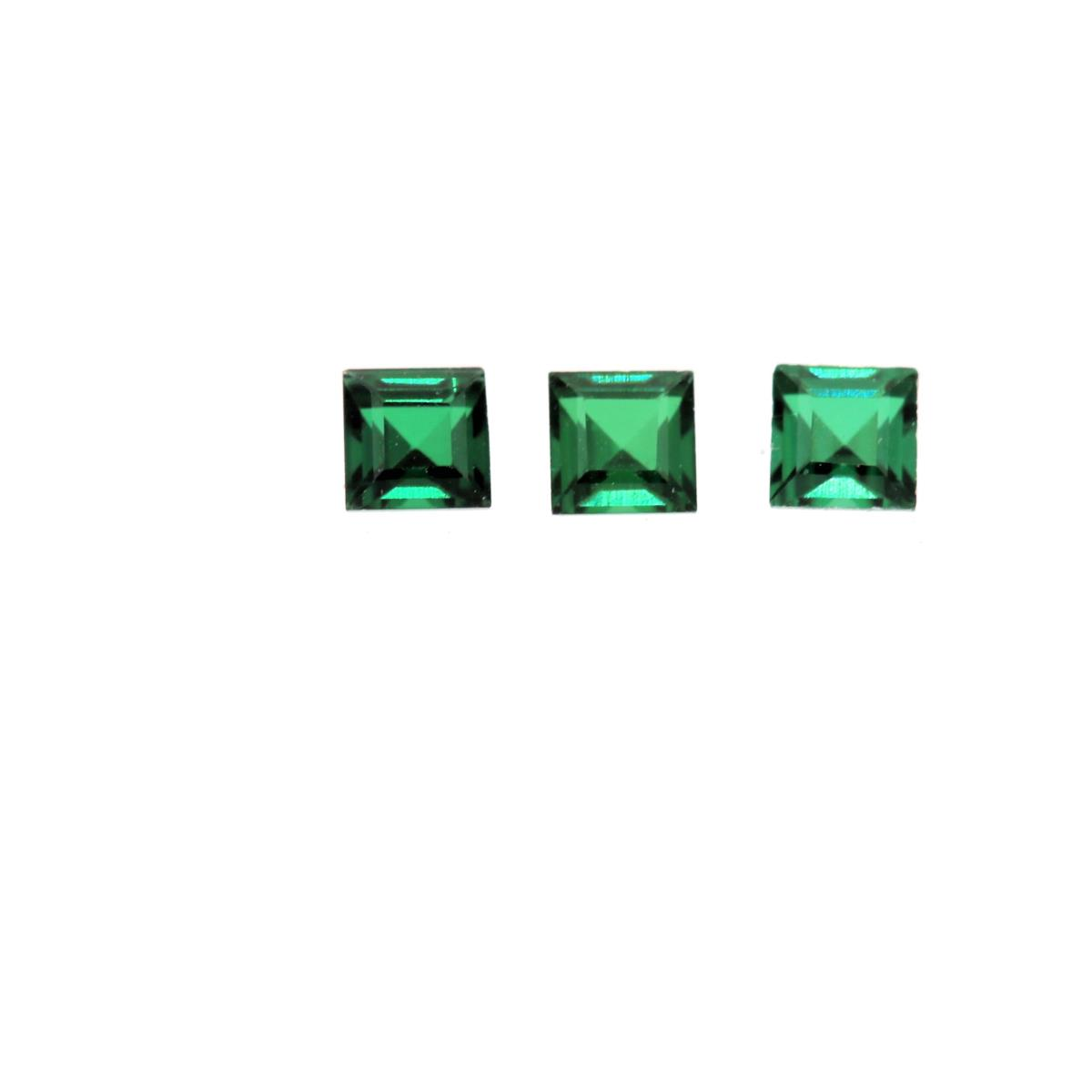 Synthetic Emerald Soude' 2.5mm