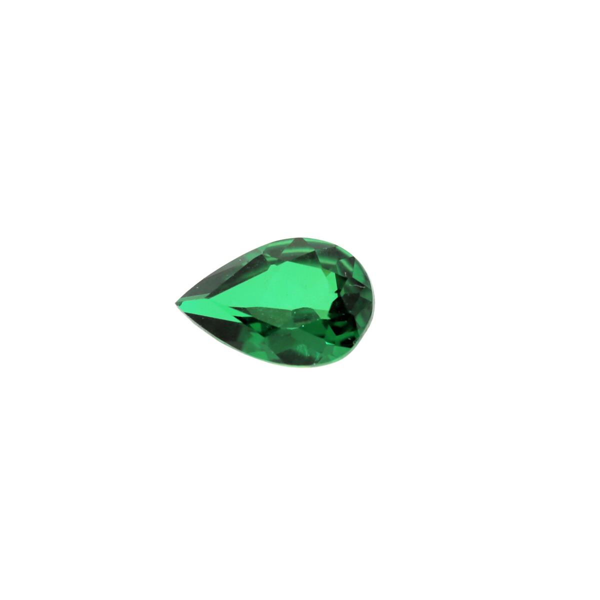 Synthetic Emerald Soude' 9x6mm