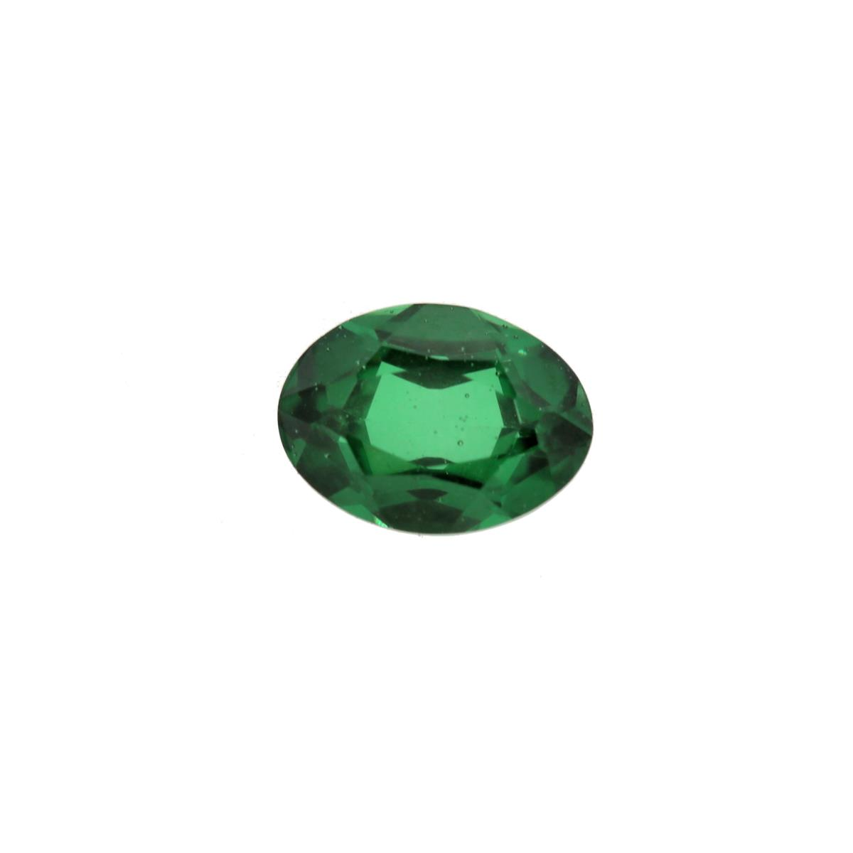 Synthetic Emerald Soude' 7x5mm