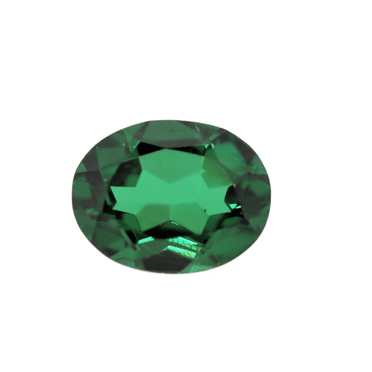 Synthetic Emerald Soude' 9x7mm
