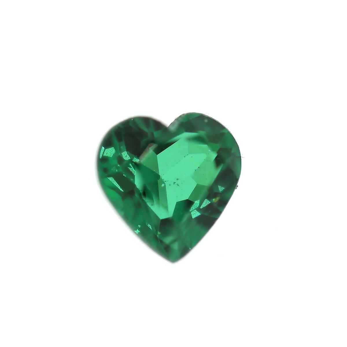 Synthetic Emerald Soude' 7mm