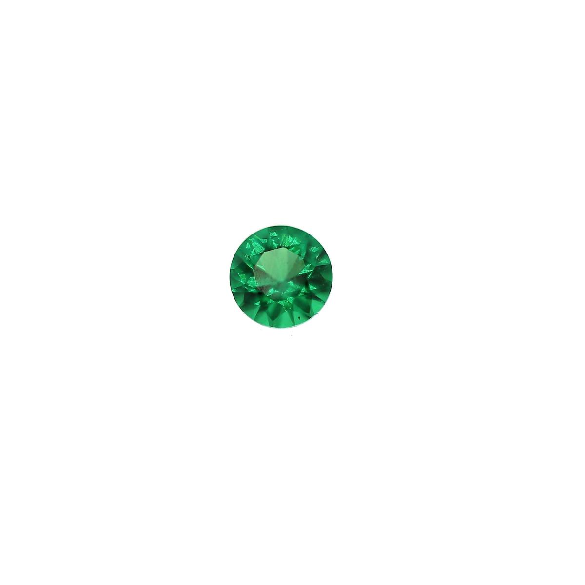 Synthetic Emerald 3mm Round