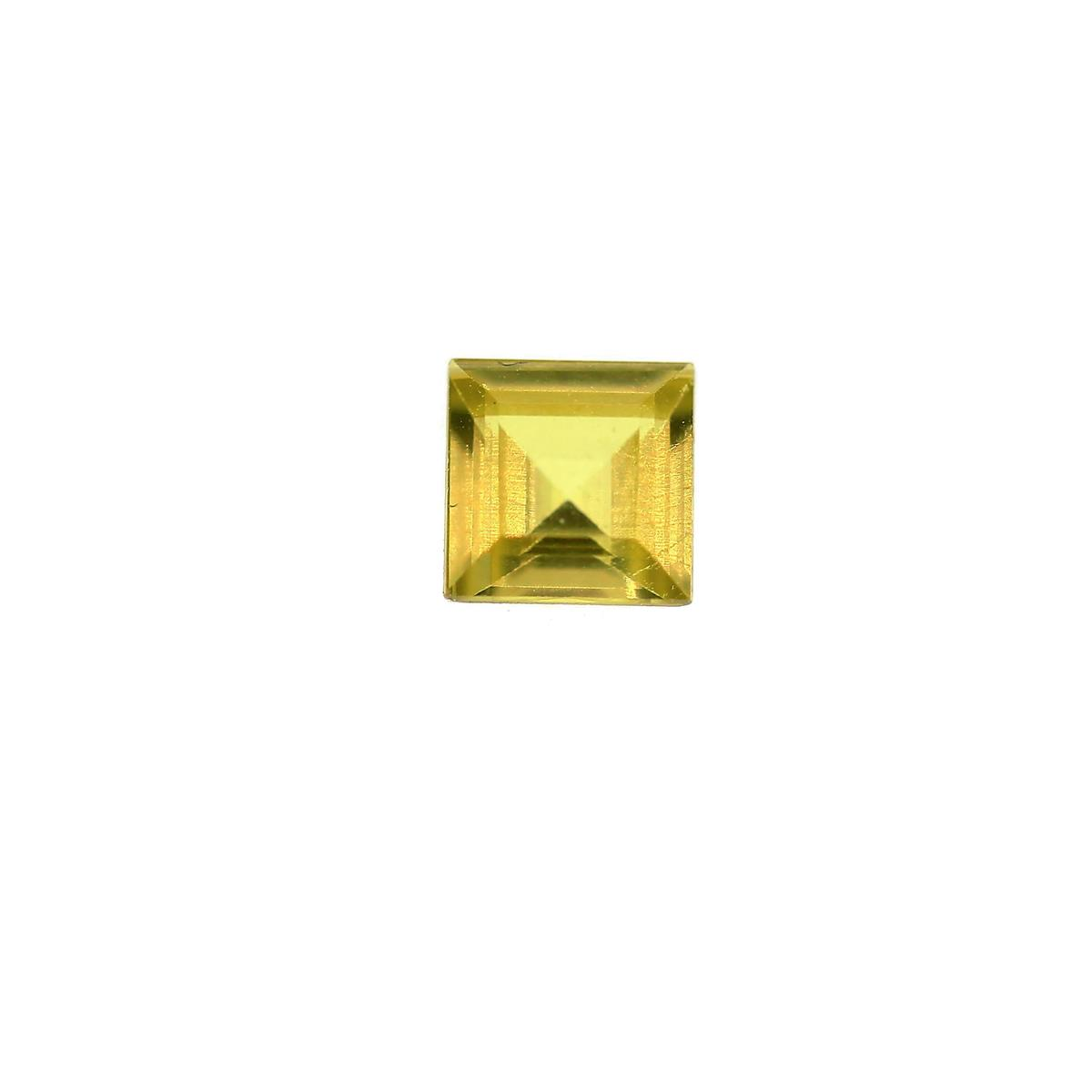 Synthetic Peridot 5mm Square