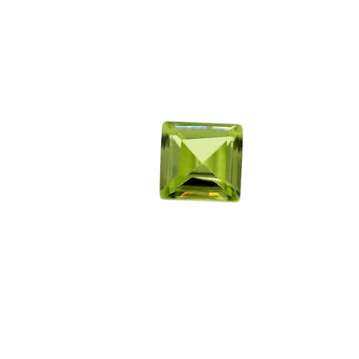 Synthetic Peridot 4mm Square