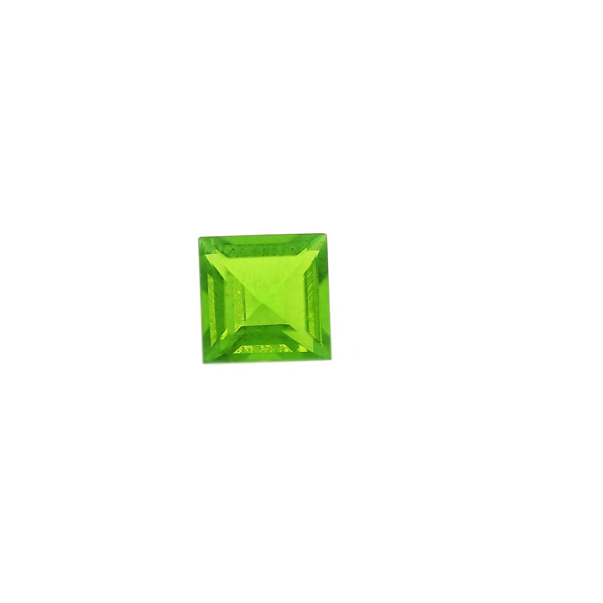 Synthetic Peridot 6mm Square