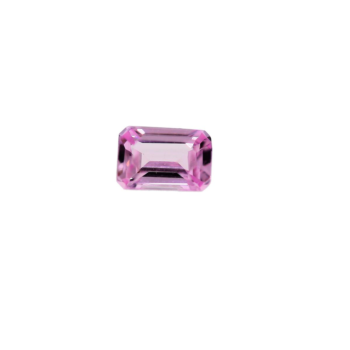 Synthetic Rose 6x4mm Octagon