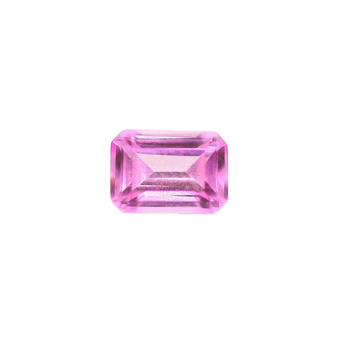 Synthetic Rose 7x5mm Octagon