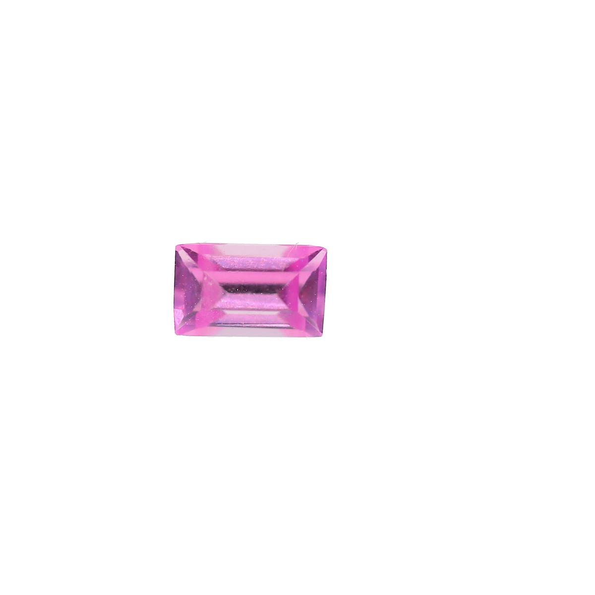 Synthetic Rose 5x3mm Baguette