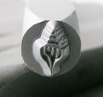 Stamp - Conch Shell 6mm