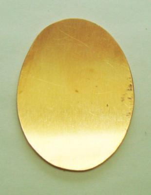 Copper Oval 22 x 30mm