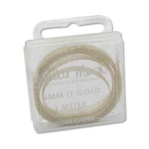 Metal Ribbon 6mm Lt Gold 1m