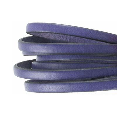 Leather Flat Licorice 5x2mm