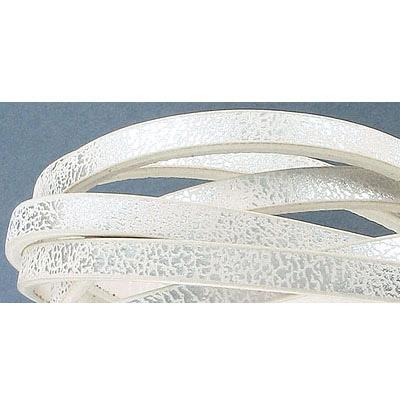 Faux Leather 5x2mm Wht Silver