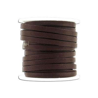 Leather 5x2mm Brown BY METRE