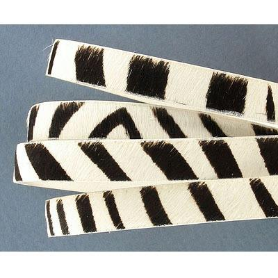 Leather Flat Licorice 10x2mm