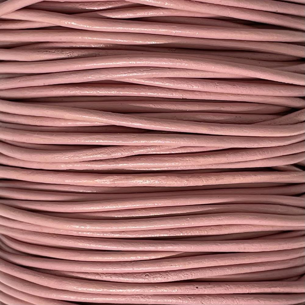 Leather Pink 2mm Superior AAA