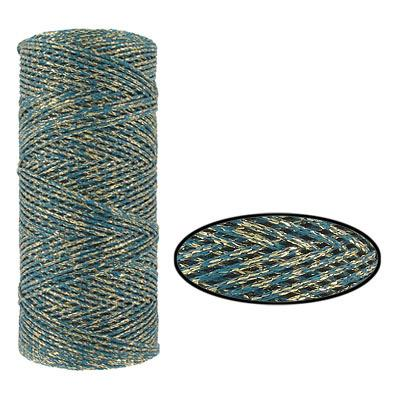 Wax Cotton Cord 1mm Teal MTR