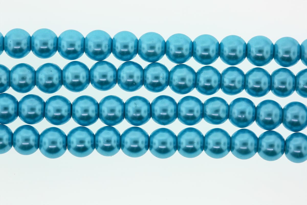 Glass Pearl Teal Round 8mm