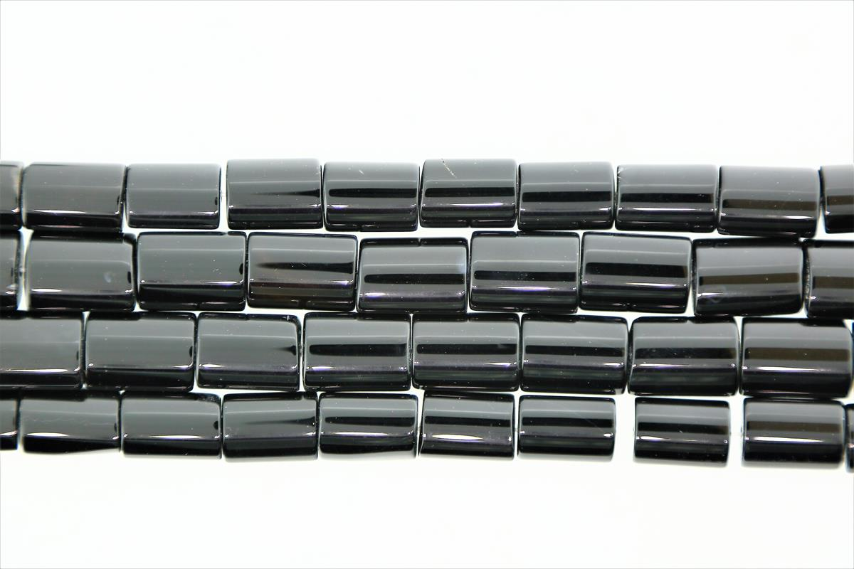 Agate Black 13x20mm Rectangle