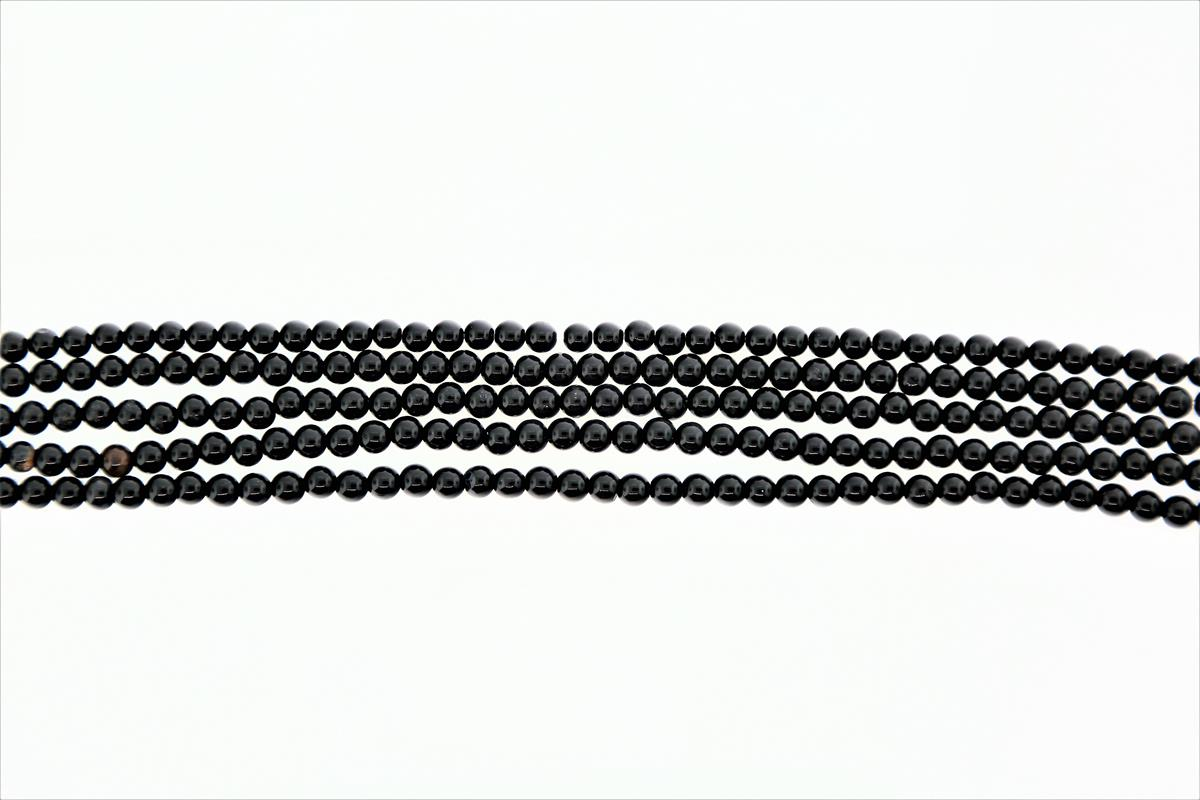 Agate Black Round 4mm