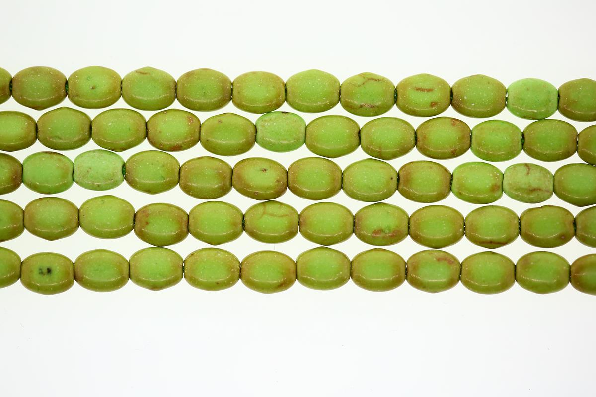 Magnesite Lt Green/Brown Oval