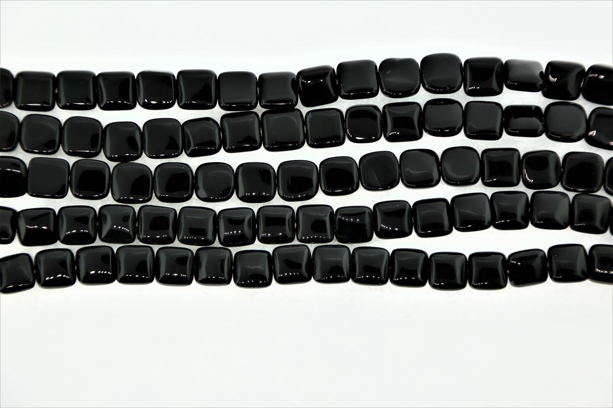 Agate Black Square 10mm