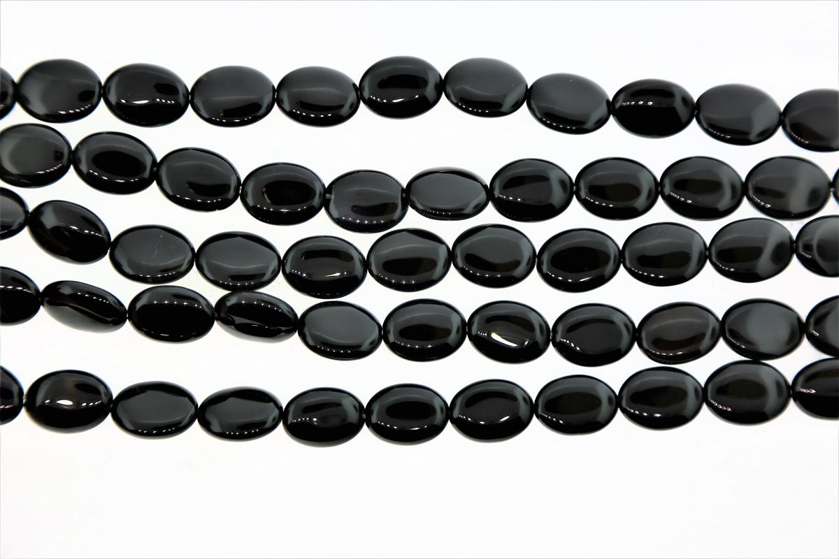 Agate Black Oval 12x16mm