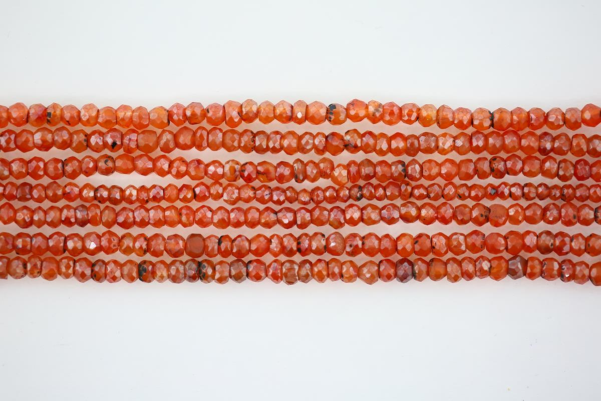 Carnelian Plated Faceted
