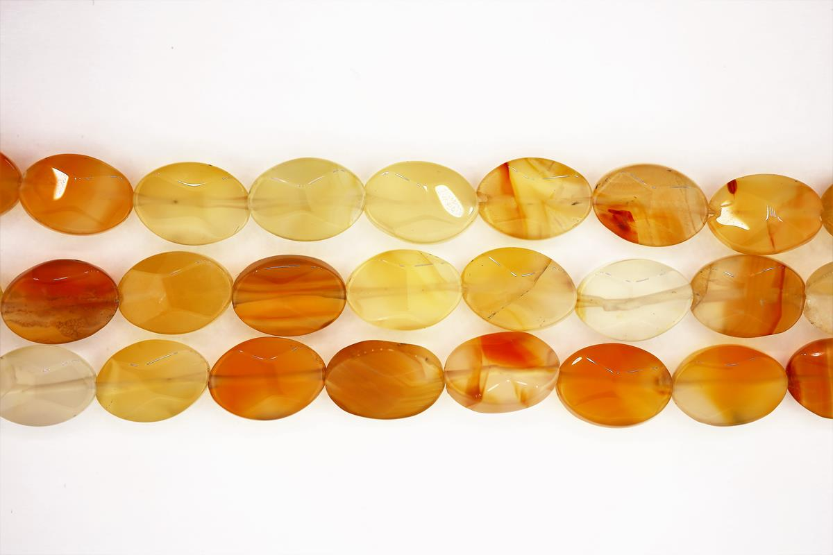 Carnelian Faceted Oval