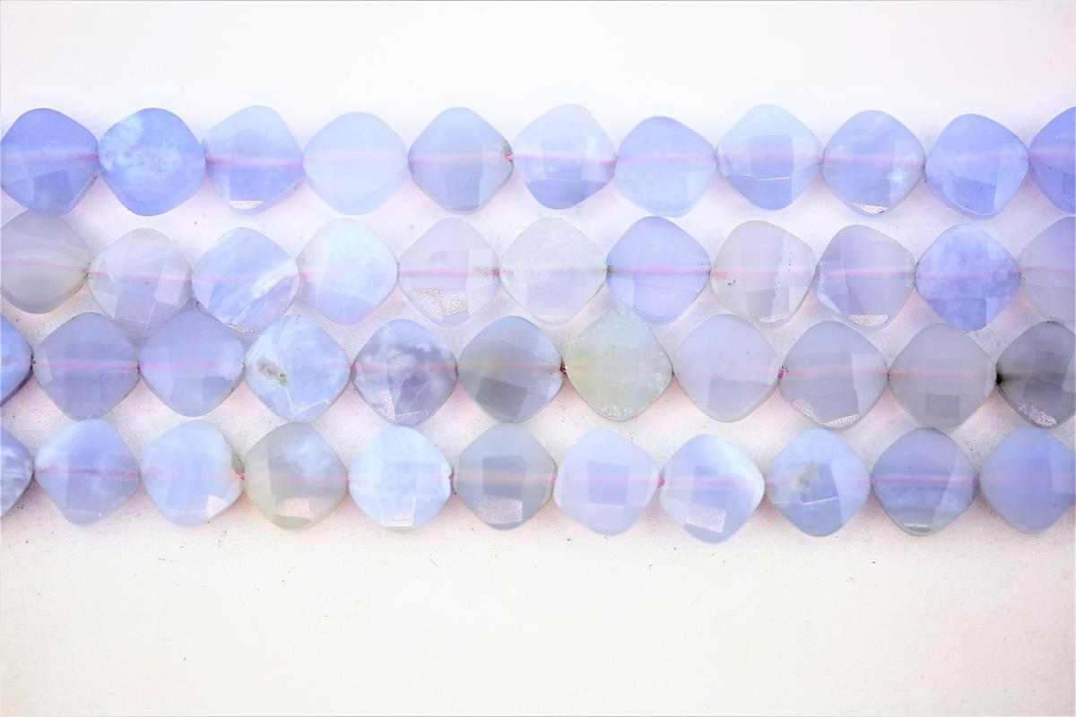 Chalcedony Blue Faceted Dice