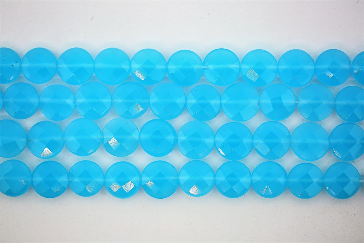 Glass Beads Chalcedony Faceted