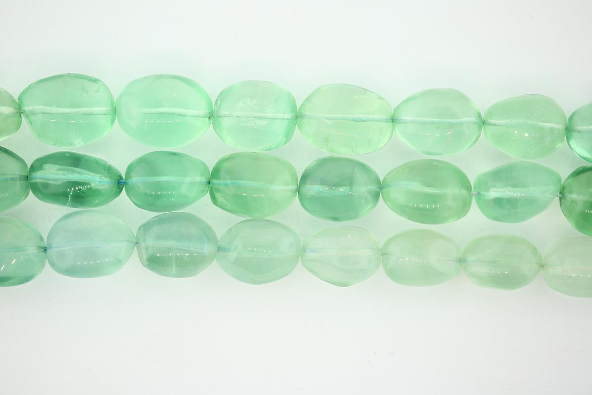 Fluorite Green Nugget 10x18mm