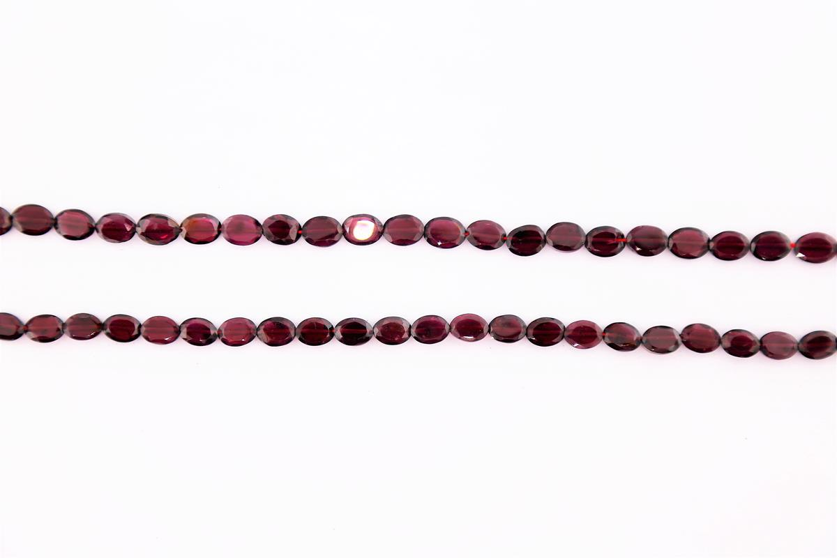 Garnet Faceted Oval 8x6mm