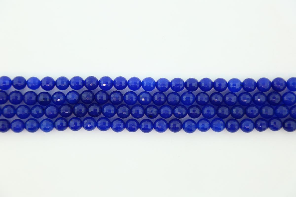 Agate Blue Faceted Round 8mm