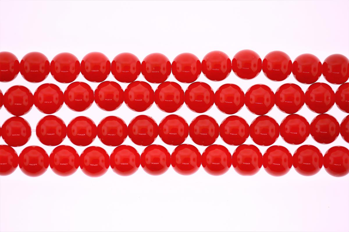 Glass Red Round 8mm