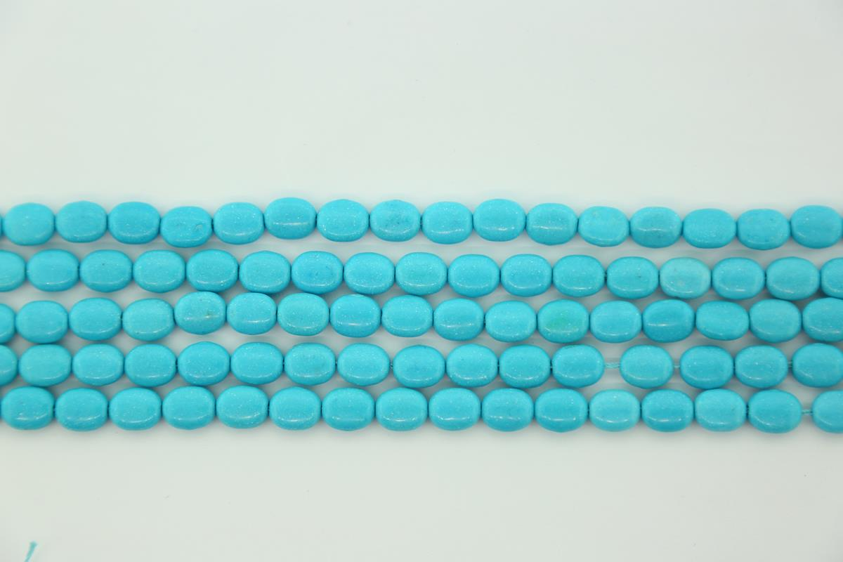 Magnesite Blue Oval 8x10mm