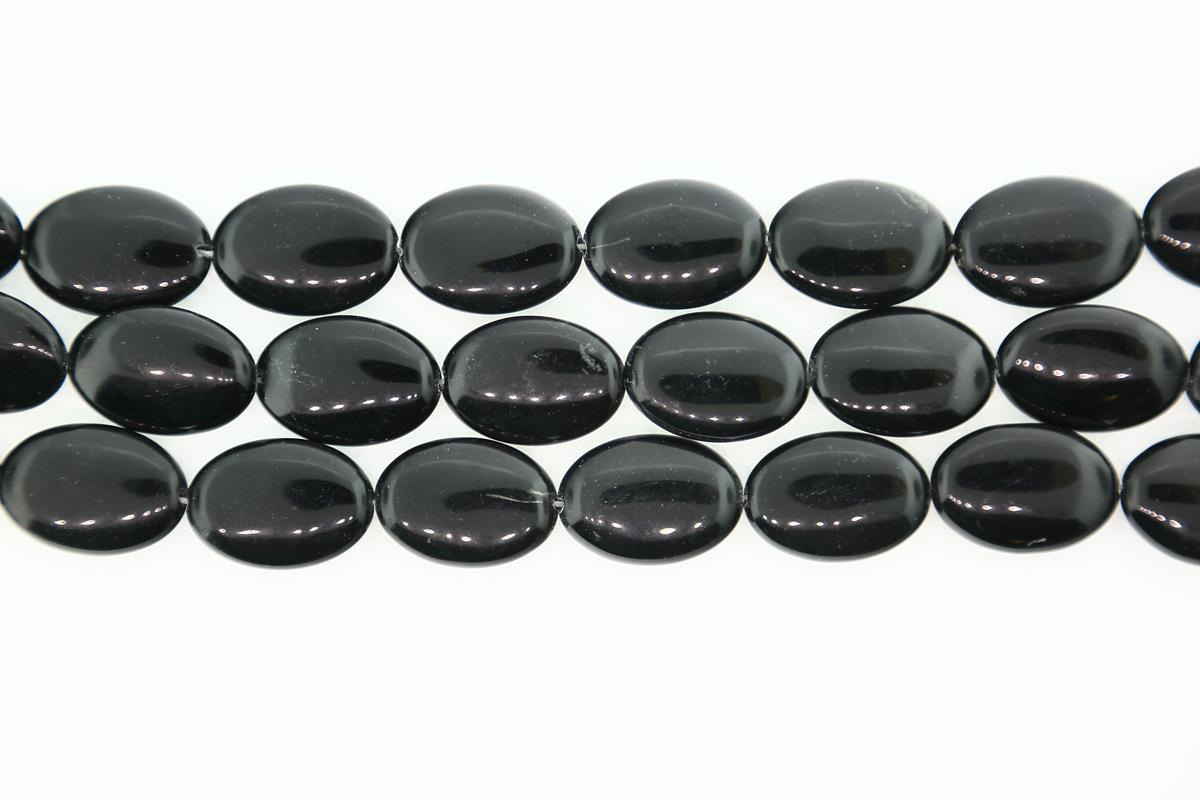 Agate Black Oval 25x18mm