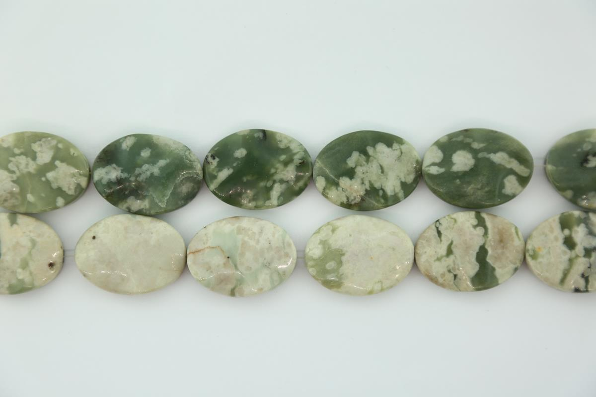 Peace Stone Oval Wave 22x30mm
