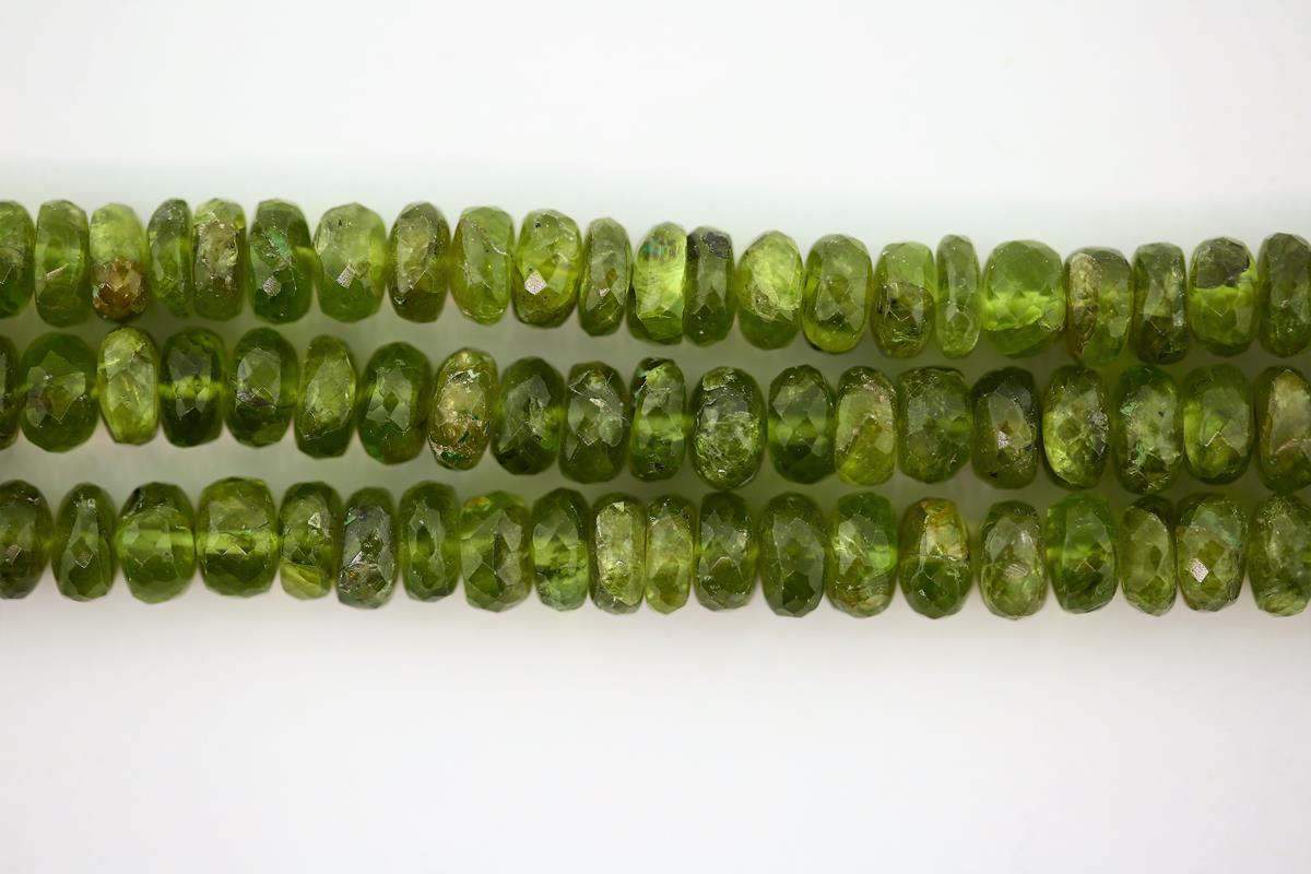 Peridot Faceted Rondelle 5mm