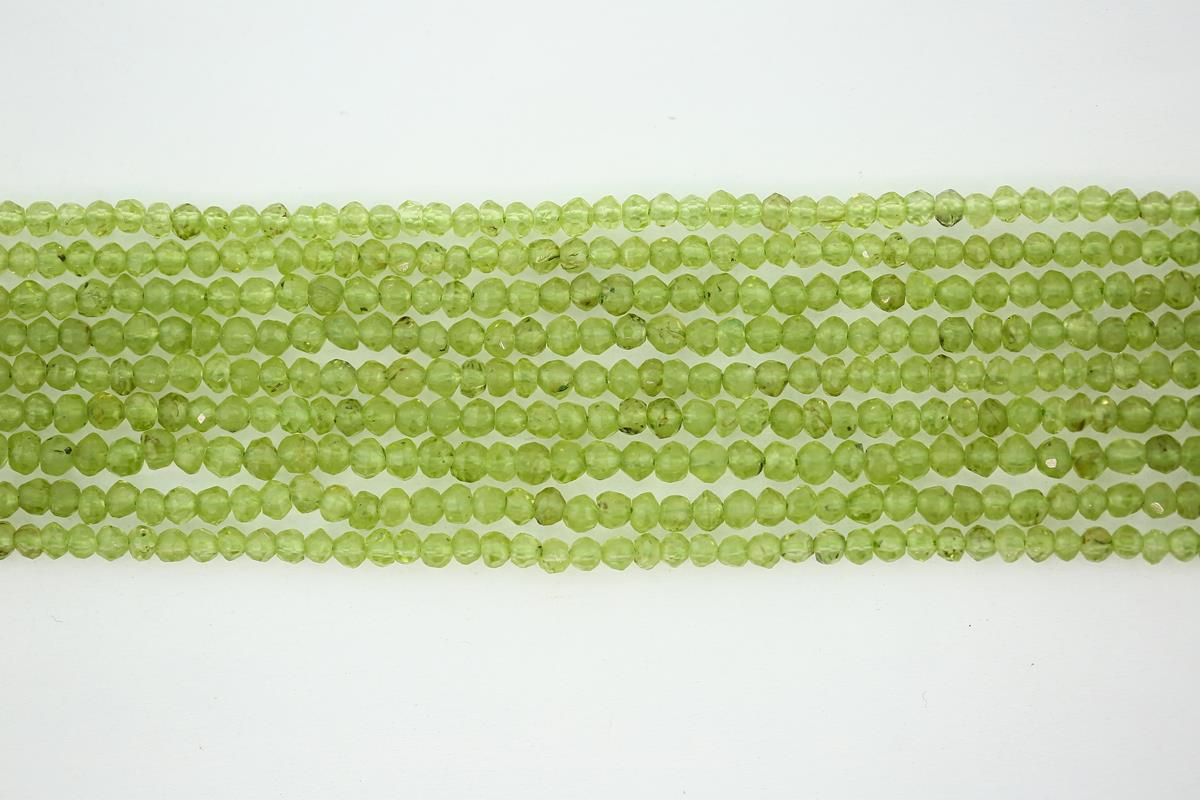Peridot Faceted Rondelle 3mm