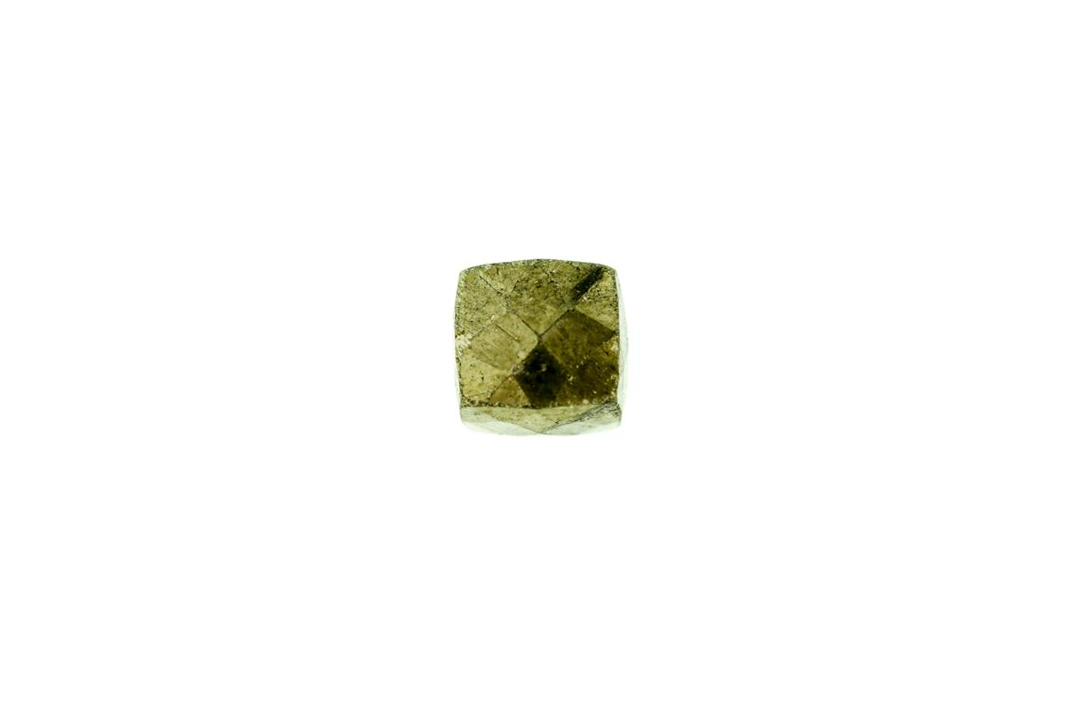 Pyrite Faceted Cube 7mm