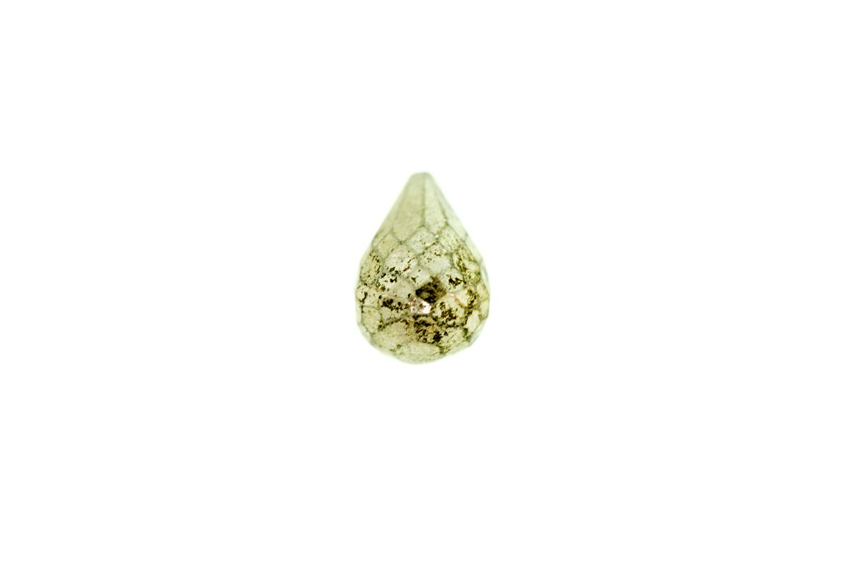 Pyrite Plated Drop 11x7.5mm