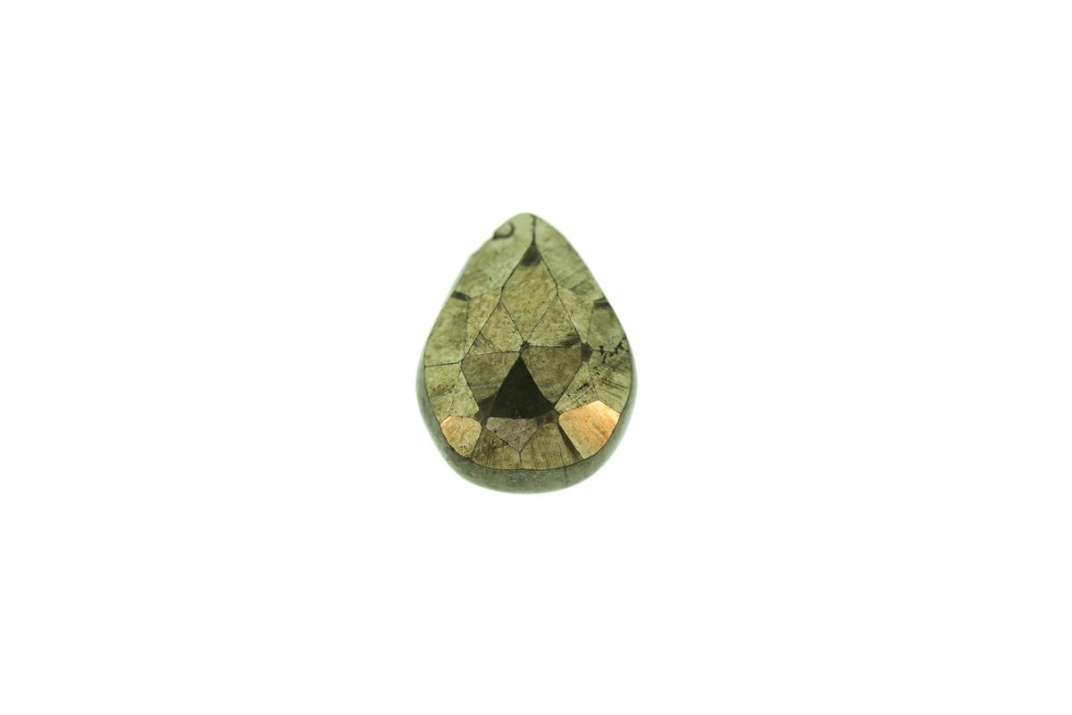 Pyrite Faceted Drop 12.5x9mm