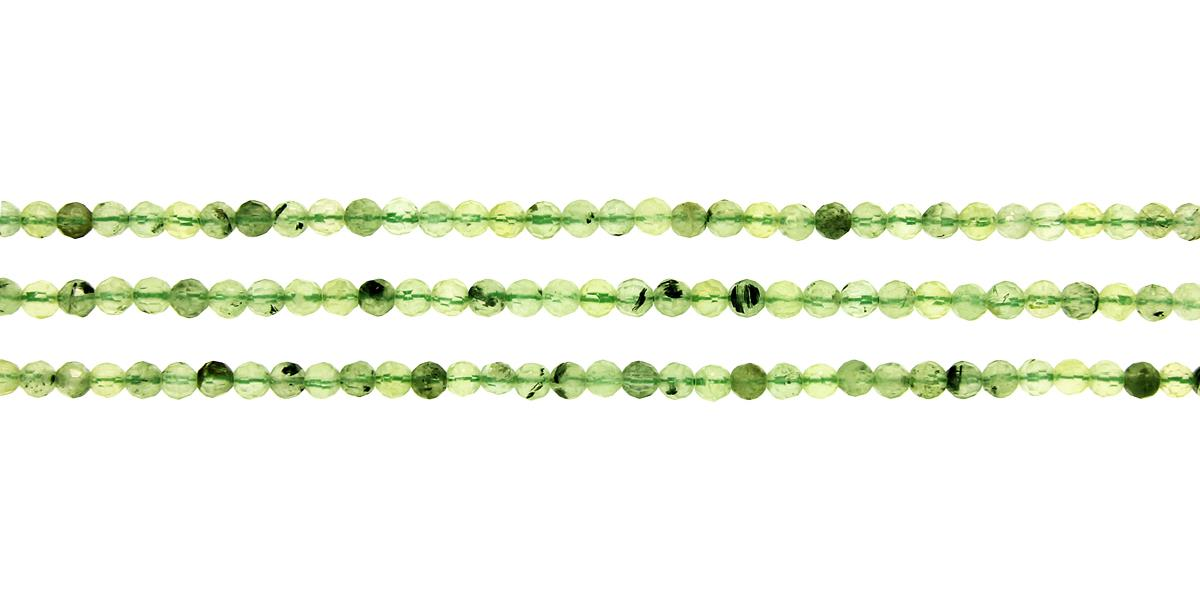 Prehnite Faceted Round 4mm
